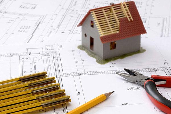 建築図面と家
