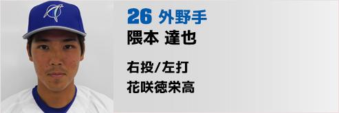 26番 隈本外野手/CAP