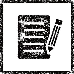 ノートと鉛筆のスタンプ